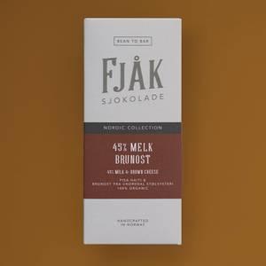 Bilde av Fjåk sjokolade 45% melk og brunost, 53 g